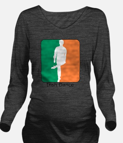ID TriColor Boy10x10 Long Sleeve Maternity T-Shirt