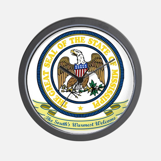 Mississippi Seal Wall Clock