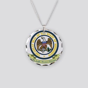 Mississippi Seal Necklace Circle Charm