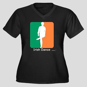 ID TriColor  Women's Plus Size Dark V-Neck T-Shirt