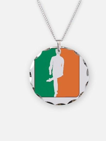ID TriColor Boy DARK 10x10_a Necklace Circle Charm