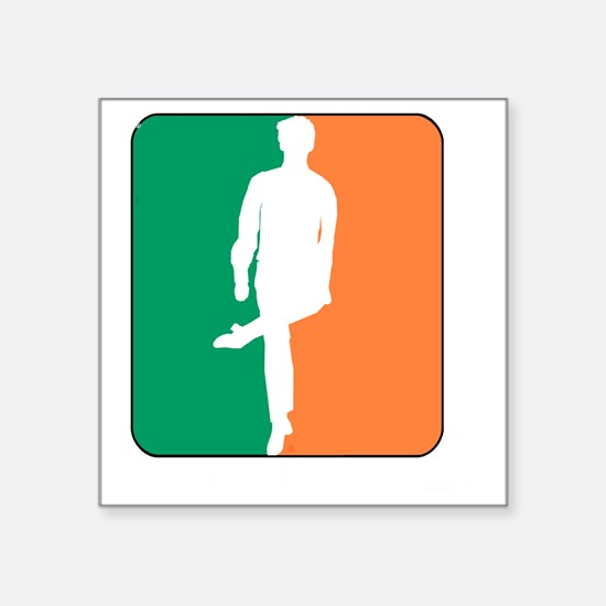 "ID TriColor Boy DARK 10x10_ Square Sticker 3"" x 3"""