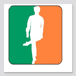 "ID TriColor Boy DARK 10x Square Car Magnet 3"" x 3"""