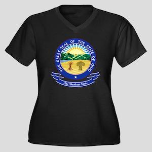 Ohio Seal Women's Plus Size Dark V-Neck T-Shirt