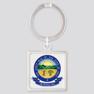 Ohio Seal Square Keychain
