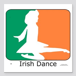 "ID TriColor Girl 10x10_a Square Car Magnet 3"" x 3"""