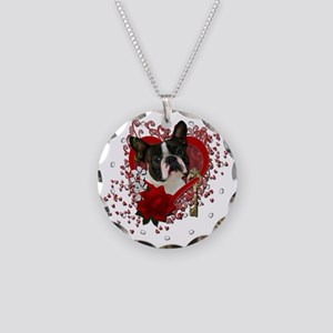 Valentine_Red_Rose_Boston_Te Necklace Circle Charm