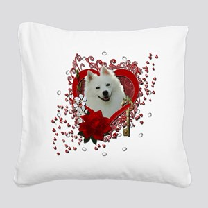 Valentine_Red_Rose_American_E Square Canvas Pillow