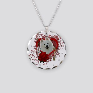 Valentine_Red_Rose_American_ Necklace Circle Charm