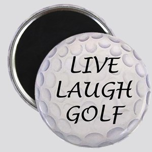 Live Laugh Golf Magnet