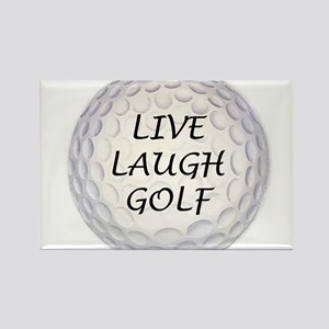 Live Laugh Golf Rectangle Magnet