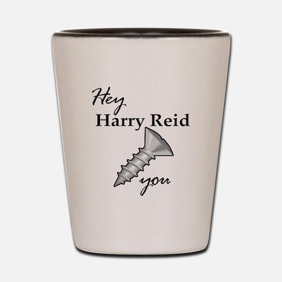 harry reid Shot Glass