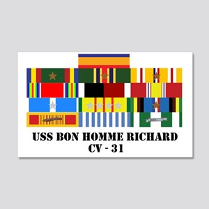uss-bon-homme-cv-31-group-text 20x12 Wall Decal