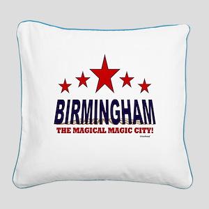 Birmingham The Magical City Square Canvas Pillow