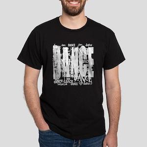 FUNKY DANCE TEXT WHITE TEXT copy Dark T-Shirt