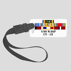 uss-wasp-cv-18-group-text Small Luggage Tag