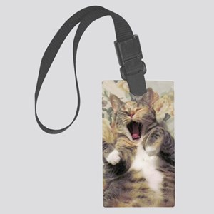 chic yawn Large Luggage Tag