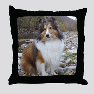 caleb creek Throw Pillow