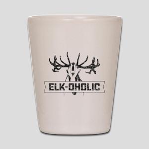 Elk-oholic Shot Glass