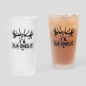 Elk-oholic Drinking Glass