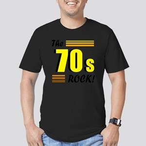 the 70s rock 2 Men's Fitted T-Shirt (dark)