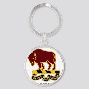 1-1O CAV RGT WITH TEXT Round Keychain