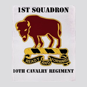 1-1O CAV RGT WITH TEXT Throw Blanket
