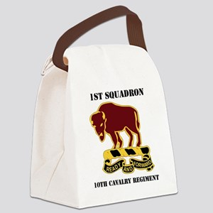 1-1O CAV RGT WITH TEXT Canvas Lunch Bag