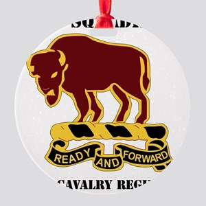 1-1O CAV RGT WITH TEXT Round Ornament