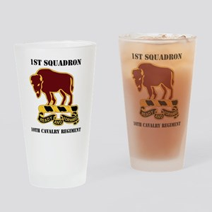 1-1O CAV RGT WITH TEXT Drinking Glass