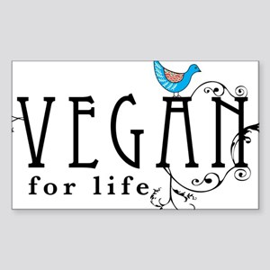 vegan-border2 Sticker (Rectangle)