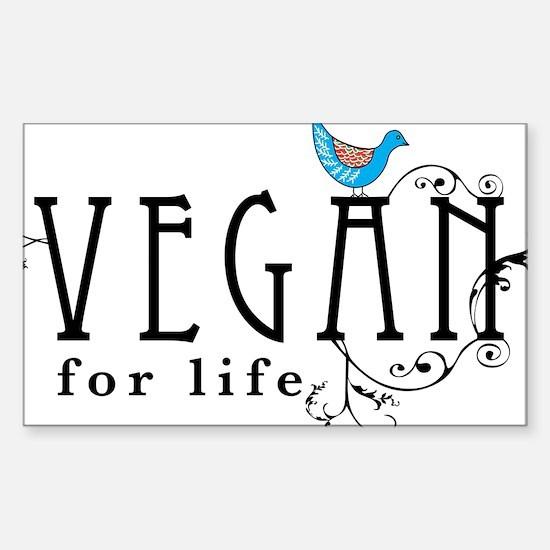 vegan-border2 Sticker (Rectangle)