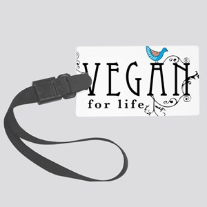 vegan-border2 Large Luggage Tag