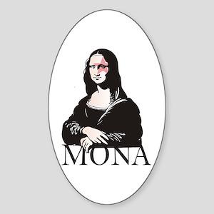 Mona Kiss Fan Oval Sticker