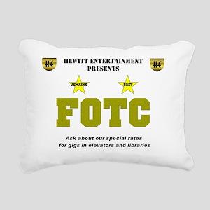 Hewitt FOTC warning clea Rectangular Canvas Pillow