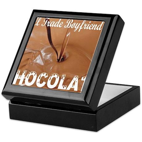 Trade boyfriend for chocolate Keepsake Box