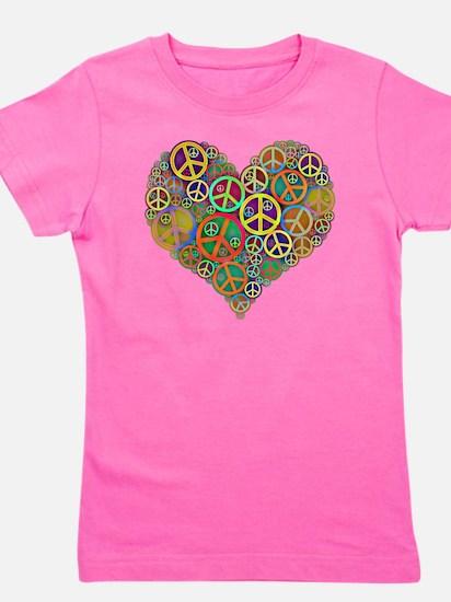 Peace Heart Light3 highpass4 Girl's Tee