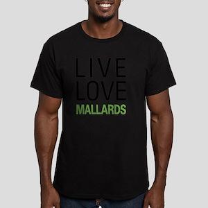 livemallard Men's Fitted T-Shirt (dark)
