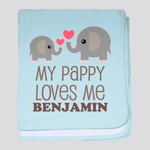 My Pappy Loves Me Personalized baby blanket