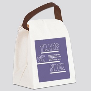 Transgender Defined Canvas Lunch Bag
