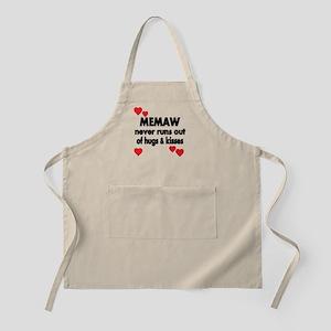 MEMAW NEVER RUNS OUT OF HUGS KISSES Apron