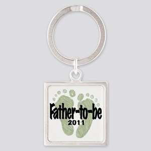 Father to Be 2011 (Unisex) Square Keychain