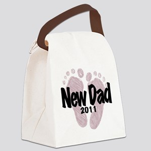 New Dad 2011 (Girl) Canvas Lunch Bag