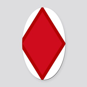 5th Infantry Division Oval Car Magnet