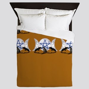Pentagram Triple Moon Queen Duvet