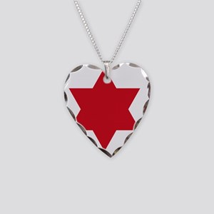 6th Infantry Division Necklace Heart Charm