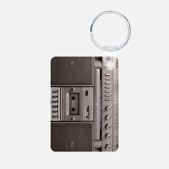 old school boombox Keychains