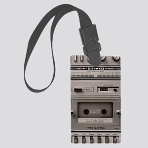 old schhool tape deck Large Luggage Tag