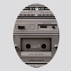 old schhool tape deck Oval Ornament