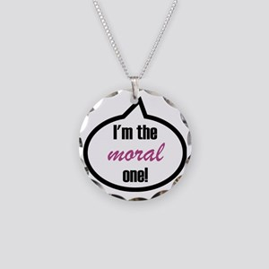 Im_the_moral Necklace Circle Charm